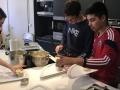 Elliot et Nicolas en cuisine